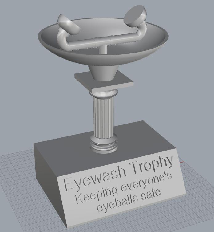 Eyewash trophy