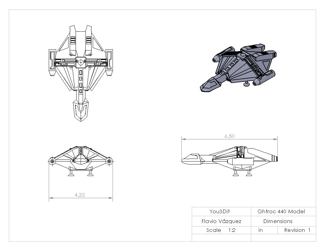 Ghtroc 440 model dimensions